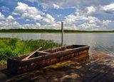 Сибирь, Окунево, озеро Шайтан, Муромцево, лодка