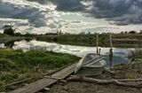 дунилово, пейзаж, река, лодка