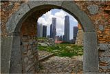 Вид на Сингапур из старой крепости.