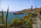 Мальта. Валетта. Фрагмент крепостной стены и Большой Гавани!!!