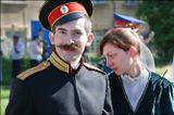 Молодой казак из Сибири с подругой на Большом круге Союза казаков России
