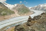 """Самый длинный ледник в Альпах. 23 км., если не ошибаюсь. Вот такая """"река"""".."""