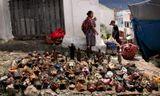 Традиционный рынок индейцев майя  в Чичикастенанго. Гватемала.