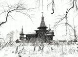 Зашиверская церковь была сработана  русскими казаками в 1700году в Устьереки Индигирки ( территория Якутии)Ныне находится на территории музея  СО РАН