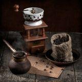кофе зерна аромат кофемолка турка