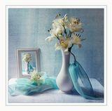 натюрморт, фотонатюрморт, лилии, цветы, цветок, рамка
