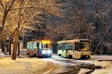 1 января 2012 года. Трамваи в Останкино.