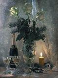 Только русская душа Может встретить дважды в год Новый, только что пришедший, А потом — и Старый Год.  С праздником!