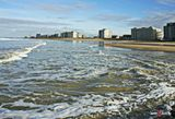 Зима в заливе города Остенде, Бельгия