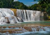 """Водопад """"Синяя вода"""" в штате Чьяпас,Мексика"""
