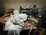 натюрморт, швейная машинка