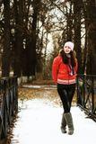 девушка, начало зимы