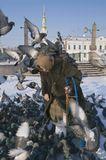 Зимний морозный денек возле Никольского морского собора.