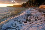 море, закат, пляж, природа