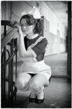 Питер. Недействующая школа. 23 февраля :-)))Постановочная съемка.Модель - Анюта Солодянкина.