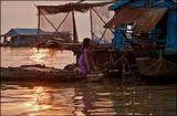Камбоджа, плавучая деревня на озере Тонле Сап