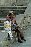 Мне показалось, что старик бездомный. Сперва бесцельно ковылял по улице, потом присел передохнуть и долго так сидел. г. Рим.