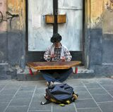Львов, улица, музыкант