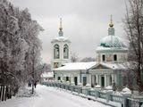 Храм, церковь,зима,Воробьевы горы