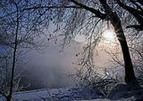 Тверь,февраль 2010,утро, река, туман