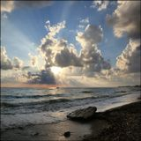 Вечер на Средиземном море в Турции, было довольно ветренно!