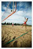 Кадр из репортажа с соревнований по пляжному волейболу в Санкт-Петербурге. Canon EOS 20D+Canon EF-S 10-22mm f/3.5-4.5 USM