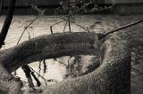 фонтан, отражение воды, спокойствие