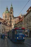Чехия, г. Прага, костел Святого Франциска и улица Кржижовницкая, сентябрь 2010 г.