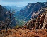 ... Зайон каньон, по-другому - узкая долина реки Вирджиния, национальный парк Зайон, штат Юта