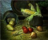 С овощами и кукурузой