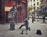 Об удивительных человеческих скульптурных композициях на улицах Мадрида