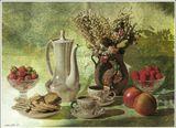 Клубника сентябрьская с дачи.ягода , осень,  натюрморт