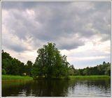 парк, пруд