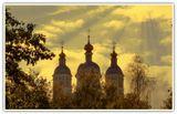 Смоленск.Успенский кафедральный собор, купола, лучи солнца, лето, объемный свет, фотограф Лидия Киприч, красота, религия, благодать, храм, святое