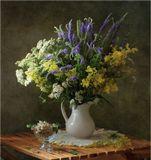Букет луговые цветы смородина
