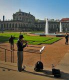 Германия Дрезден скрипачка