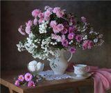 Букет хризантемы чай