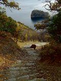 Ноябрь 2012Крым, Севастополь, мыс Фиолент, скала Святого Явления, море, горы, осень, ноябрь, вечер