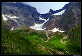 """*  *  *Горный маршрут Great Glacier Trail (типа """"Большой Ледовый Путь"""") ведет вверх по узкой извилистой тропе по лесным склонам и открывает дальние виды на несколько ледников. Самым близким оказывается ледник Вокс, очертания которого напоминают птичью лапу ... *  *  *Канада, Горный массив Колумбия, Национальный парк Глейшер."""