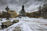 Петербург.Екатериненский сад.Зима.