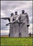 Монумент Героям-Панфиловцам.--Сыровато было, я бы даже сказал мокро...