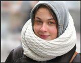 зима, девушка, портрет