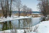 Зима, январь, крещение, река