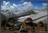 Панорама из 4-х вертикальных кадров [1/320; F/22] Фото сделано со склона Эльбруса (высота 3500м.)