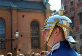 Королевский дворец, Kungliga slottet эспланада, внешний двор, Yttre borggardenцеремония смены караула Королевство Швеция Стокгольм Старый город Гамла СтанKonungariket Sverige, Kingdom of Sweden, Stockholm, Gamla Stan