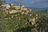 Вид на городок Горд, Прованс, Франция