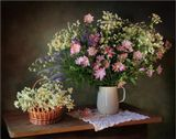Букет луговые цветы мальвы