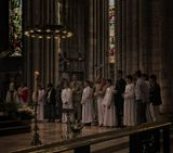 Cathedrale Notre-Dame de Rouen.Подсмотренное в Готическом католическом соборе в городе Руан, Нормандия. 2013