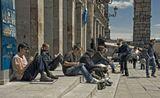 Типичная картина европейских городов. Испания. Исторический центр Сеговия