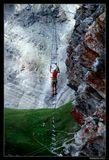 """При перемещении по склону в каждый момент времени должно быть три точки опоры.             Из Правил для альпинистов и скалолазов.    *  *  *  Такой высоты мне не сдюжить На траверсах этих крутых. Но ты уверяешь, что нужен Тебе в восхожденьях твоих.  Ты скажешь, что есть еще порох, И бросишь, усмешку тая: """"Еще одна точка опоры - Летящая строчка твоя!""""  *  *  *  Гора Mont-Fort, высоте 3330 м. Швейцария, кантон Vallais. Июль 2013."""